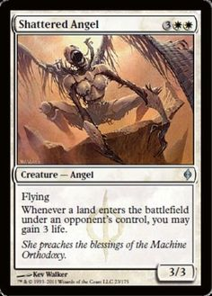 Shattered-Angel-x4-Magic-the-Gathering-4x-New-Phyrexia-mtg-card-lot-uncommon