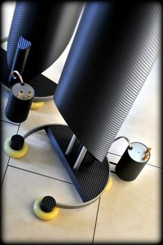 """Custom made omnidirectional high end loudspeaker """"PIPE"""" - detail / Designed by A. Fiol - Germany"""