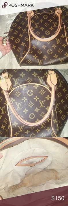 Cute LV Print Handbag Has some wear & tear to it but nothing is broken. Priced to sell. Please don't ask the obvious. Bags