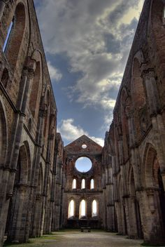 San Galgano Abbey, Chiusdino - Siena, Tuscany, Italy