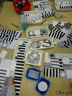 Autour de Vasarely ! 4th Grade Art, First Grade Art, Middle School Art, Art School, School Art Projects, Group Art, Art Lesson Plans, Collage Art, Victor Vasarely