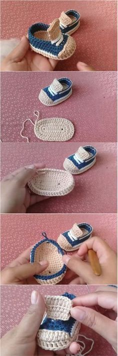 This is Step by step guided video tutorial how to crochet Thos… Love DIY ideas ? This is Step by step guided video tutorial how to crochet Those Cute Baby Booties. This crochet Cute Baby Booties are Is simple to make and adorable. Booties Crochet, Crochet Baby Shoes, Crochet Baby Clothes, Crochet Slippers, Baby Booties, Baby Slippers, Baby Sandals, Crochet Outfits, Crochet For Beginners