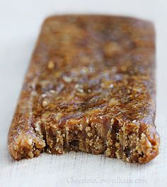Full recipe link: http://chocolatecoveredkatie.com/2013/04/04/homemade-peanut-butter-protein-bars/