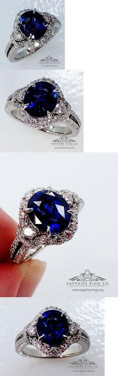 Other Engagement Rings 164308: Gia Platinum 3.99 Tcw Blue Oval Cut Ceylon Sapphire And Diamond Wedding Ring -> BUY IT NOW ONLY: $5996.99 on eBay!