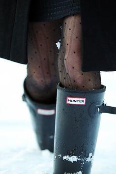 Hunters + tights