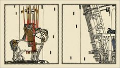 Carl Otto Czeschka (1878 - 1960)  Illustrations for a 1908 edition of Die Nibelungen (The Nibelungs).  These provided a lot of inspiration for Fritz Lang and Thea Harbou in the making of the 1924 silent fantasy film series Die Nibelungen.