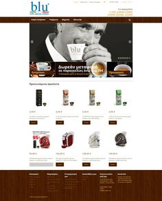 Eshop for Blu Caffe (CMS) Banner Design, Banners, Web Design, Design Web, Banner, Posters, Website Designs, Bunting, Site Design