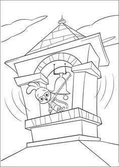 Chicken Little Playing Water Coloring Page Chicken Little