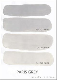 I've chosen the color Paris Gray and am going to mix it with Old White.