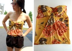 Grab some cute fabric and turn your bra into a stylish top with the support sewn in!  Bustier anyone?