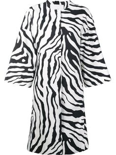 ADAM LIPPES Zebra Print Cocoon Coat. #adamlippes #cloth #coat