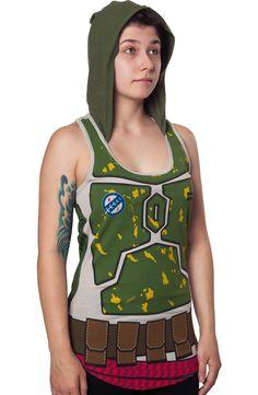 Boba Fett Hooded Tank: Star Wars Ladies Tank Top