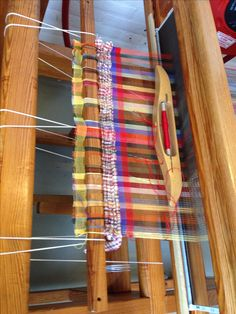 16-08-2016 Start of the 3 year schooling to become professional weaver.  Satijn schering, wol inslag.