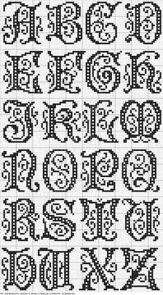 prachtig alfabet - kruissteekpatroon