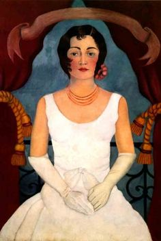 Frida Kahlo - Portrait dune Dame en Blanc - 1929
