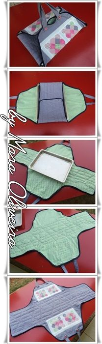 Porta Travessa.... Diy Sewing Projects, Sewing Hacks, Sewing Tutorials, Sewing Crafts, Sewing Patterns, Hobbies And Crafts, Diy And Crafts, Fabric Bags, Hot Pads