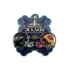 Super Bowl XLVII Dueling Pin. Click to order! - $6.99 #Ravens #49ers
