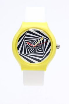 Vision Street Swirl X Vision Round Rubber Watch. 80's graphics for the win!