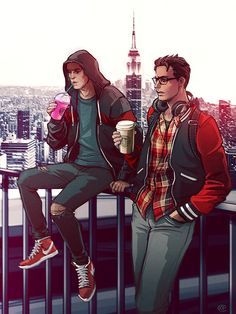 Spiderman x Deadpool - Starbucks Coffee by maXKennedy on DeviantArt