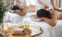 $115: 60-Min Massage, 30-Minute Foot Bliss w/ Glass of Sparkling Wine