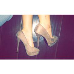 Suede tan charlotte russe heels Size 7 Shoes Heels