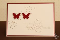 :) Paper Crafts, Diy Crafts, Butterfly Cards, Animal Cards, Stamping Up, Anniversary Cards, Wedding Cards, Cardmaking, Projects To Try