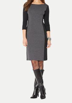 Lauren by Ralph Lauren - Gray Colorblocked Boatneck Dress Boat Neck Dress, Dresses For Work, Formal Dresses, Party Dresses, Cool Style, My Style, Dillards, Work Wear, Ralph Lauren