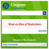 Introducing the Coupon Widget from Answers.com - Eve of Reduction