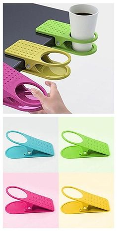 Creative Table Clip Cup Holder, guess this can be one of your dorm essentials in. Creative Table C