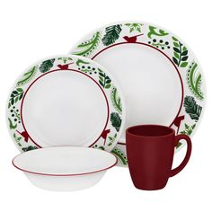 Corelle Impressions 16 Piece Set Birds and Boughs, Multi