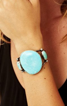 Rejoice The Hands Lone Mountain Cuff #turquoise