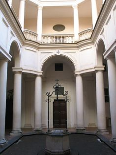 The cloister of San Carlino, designed and build by Francesco Borromini between 1635 and 1637.