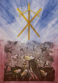 Akron Tarot - Three of Swords