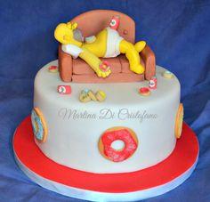 Homer Simpson cake, made by cake designer Martina Di Cristofano.