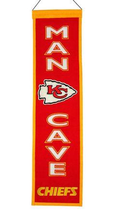 Kansas City Chiefs Wool Man Cave Banner