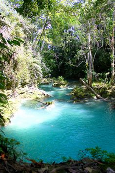 Turqoise waters of The Blue Hole near Ocho Rios, Jamaica (by Christophe A. Frochaux).