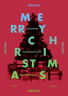 Trend List — Exploring visual trends in contemporary graphic design. Funny Images With Quotes, Typographic Design, Typography, Xmas Wishes, Christmas Poster, Poster Prints, Art Prints, Illustrations And Posters, Design Art