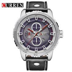 Curren luxury brand quartz watch Casual Fashion Leather watche
