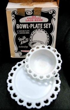 oh i have several of this pattern. a larger bowl and an smaller one, with a round platter also. then the small pedestal bowl. they are so pretty to group all together.