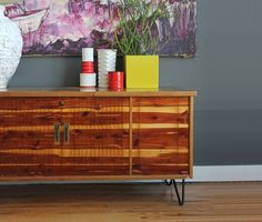 Lane Cedar Chest Credenza With Hairpin Legs