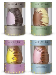 Sharing some of my favorite Easter packaging. The splat eggs! PD candy packaging Last minute Easter Egg shopping? Try 'The Splat' Caramel Chocolate Easter Egg from Hotel Chocolat Hotel Chocolate, Carmel Chocolate, Chocolate Caramels, Chocolate Chocolate, Egg Packaging, Candy Packaging, Chocolate Packaging, Packaging Design, Easter Candy