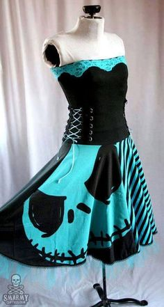 b2ab6245d30 I found  Jack Skellington Corset top Dress  on Wish