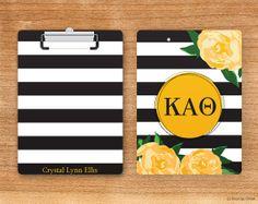 KAO Kappa Alpha Theta Striped Rose Sorority by BoutiqueGreek, $29.50