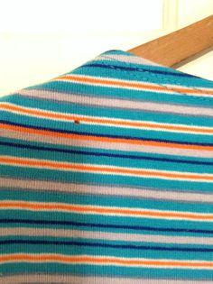 Stripy Crop Top Vintage 1980s Eighties by StrangerBirdVintage