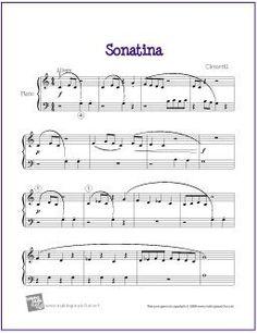 Sonatina (Clementi) for Easy Piano - http://makingmusicfun.net/htm/f_printit_free_printable_sheet_music/sonatina.htm