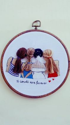 Bride and bridesmaids inc – Modern Embroidery, best friend gift Handmade embroidery bride marrige gift wedding gift – crafts gifts Hand Embroidery Videos, Embroidery Flowers Pattern, Creative Embroidery, Simple Embroidery, Modern Embroidery, Hand Embroidery Patterns, Cross Stitch Embroidery, Crewel Embroidery, Ribbon Embroidery