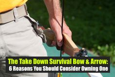 The Take Down Survival Bow & Arrow: 6 Reasons You Should Consider Owning One, shtf, prepping, survival, hunting, preparedness, bow, recurve…