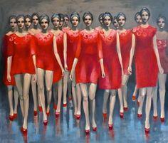 "Saatchi Online Artist Pascale Taurua; Painting, ""Runaway"" #art"