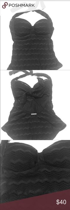 Crochet one piece Glam crochet swim suit never worn! Very cute and retro! Size is a junior M. Billabong Swim One Pieces