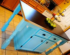 i should be mopping the floor: Kitchen Island Transformation